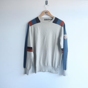 Vintage Guess Spellout Block Coloured Patch Knit (M)