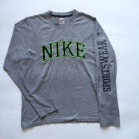 Nike Green Embroided Spellout Long Sleeve (M)