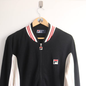 Vintage Fila Bloc Colour 80s Track Knitted Jacket (XL)