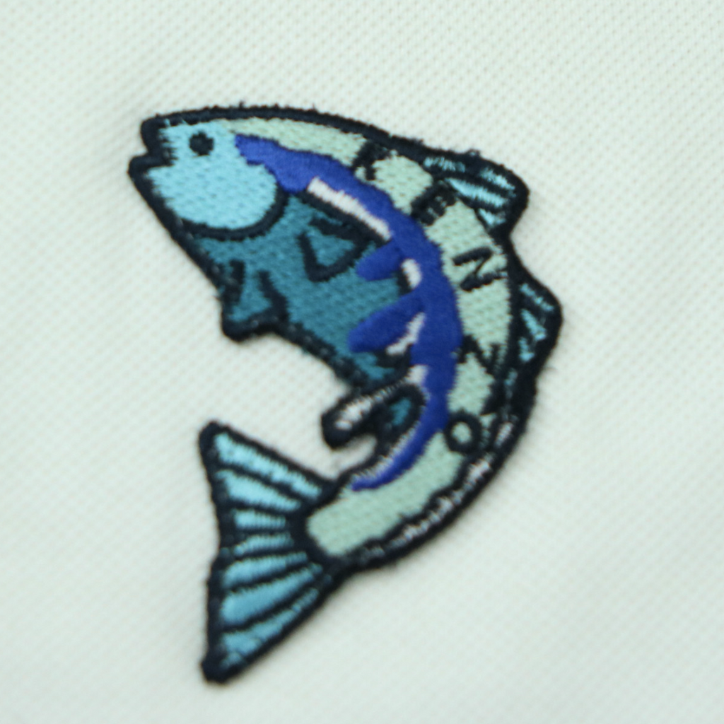 KENZO CREST FISH ARTIC POLO (L) - Thrifty Towel