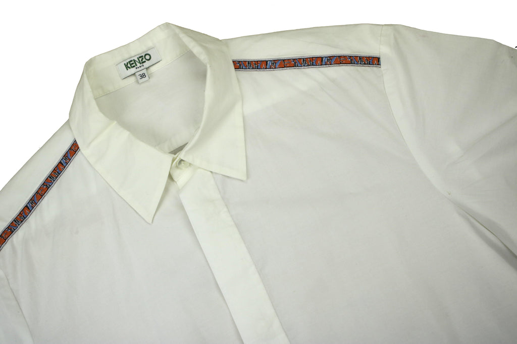 KENZO TAPPERED SHORT SLEEVE SHIRT (S) - Thrifty Towel