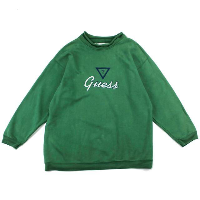 GUESS SIGNATURE MOCK NECK SWEAT