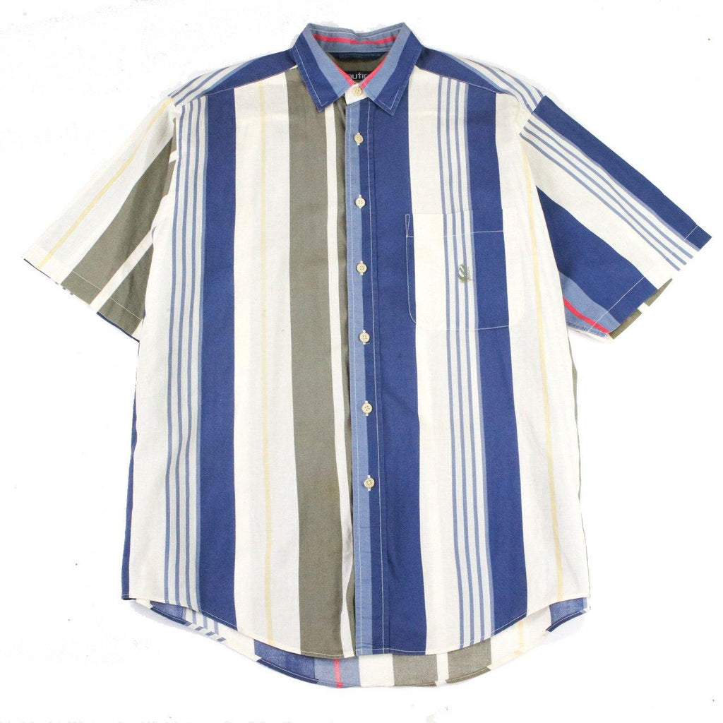 NAUTICA 1990s STRIPPED SHIRT (L) - Thrifty Towel