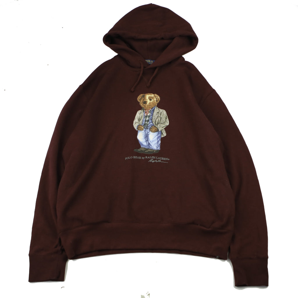 POLO BEAR BY RALPH LAUREN COLLEGIATE BEAR HOODY (L) - Thrifty Towel
