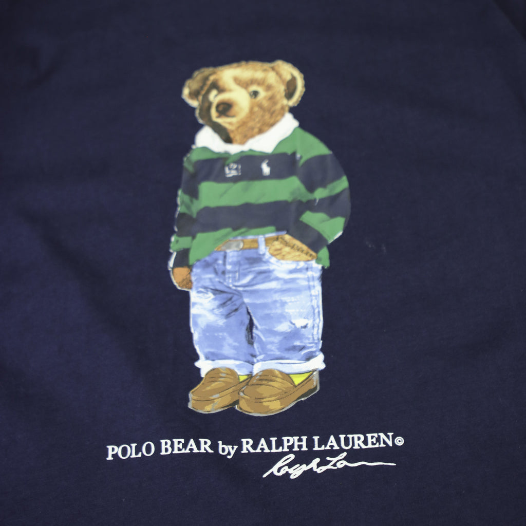 POLO RALPH LAUREN CASUAL BEAR TEE (L) - Thrifty Towel