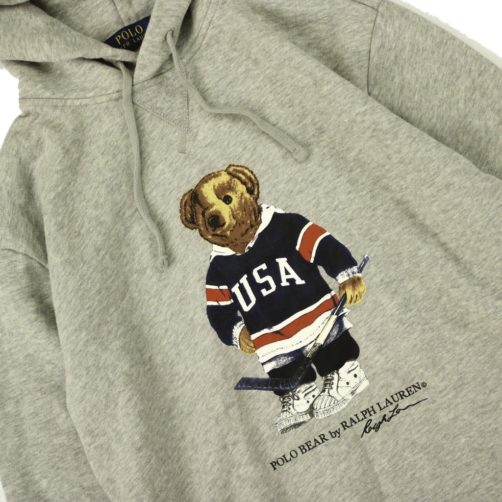 POLO RALPH LAUREN HOCKEY BEAR POPOVER HOODY (S) - Thrifty Towel