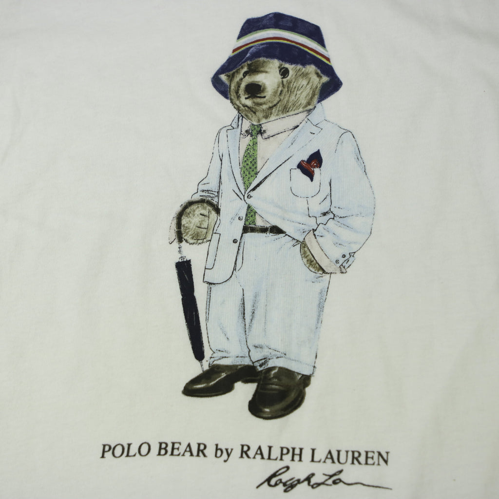 POLO RALPH LAUREN  BEAR SUIT GANGSTER TEE (S) - Thrifty Towel