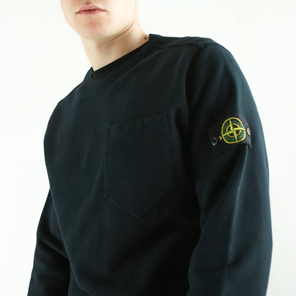 STONE ISLAND CREW SWEAT (L) - Thrifty Towel