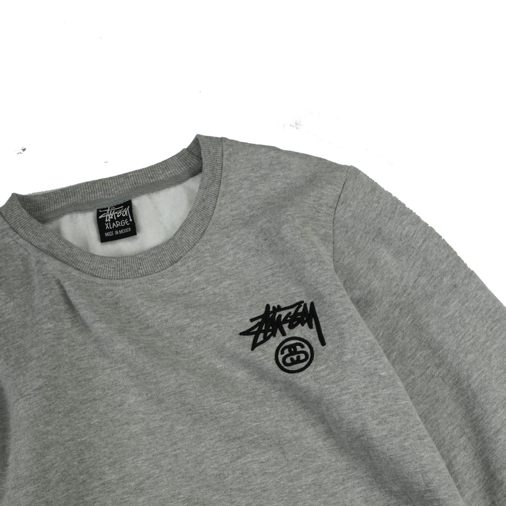 STUSSY LONG SLEEVE LINKS CREW (S) - Thrifty Towel