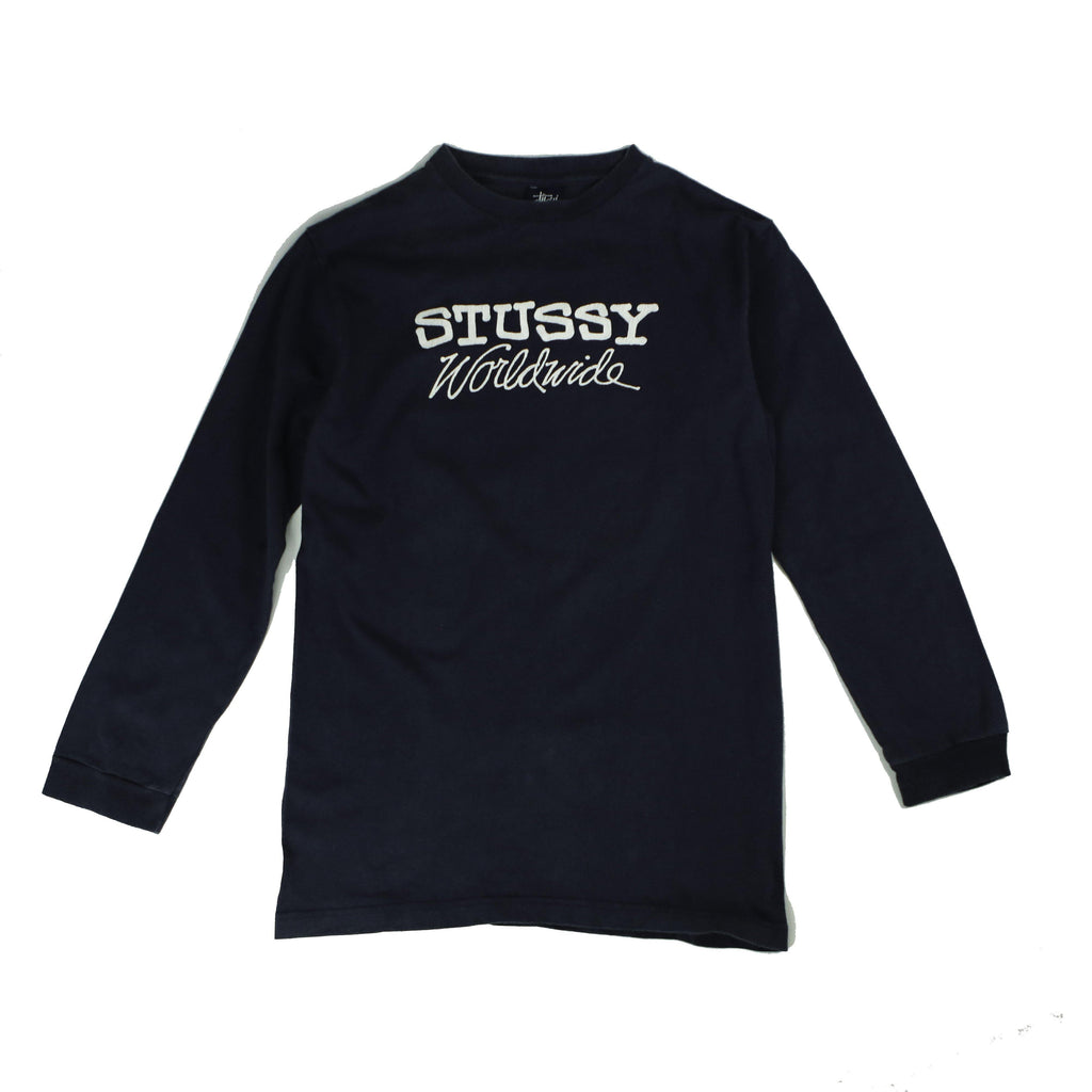 STUSSY WORLDWIDE LONGSLEEVE TEE - Thrifty Towel