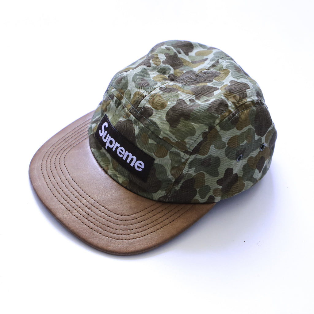 SUPREME HERRINGBONE SS12 CAMO CAMP CAP - Thrifty Towel