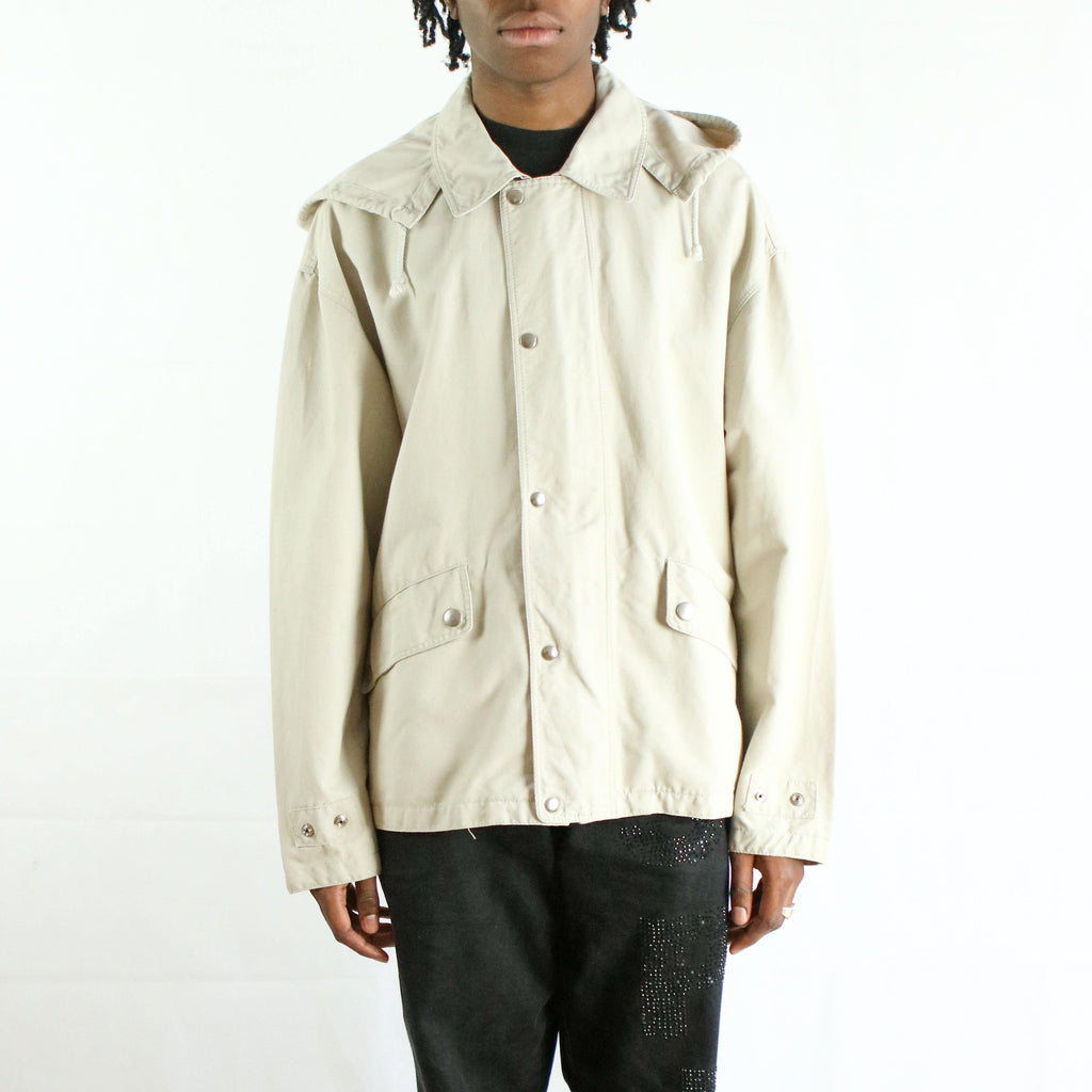 VALENTINO HOODED ZIP UP JACKET VIINTAGE BEIGE OUTFIT