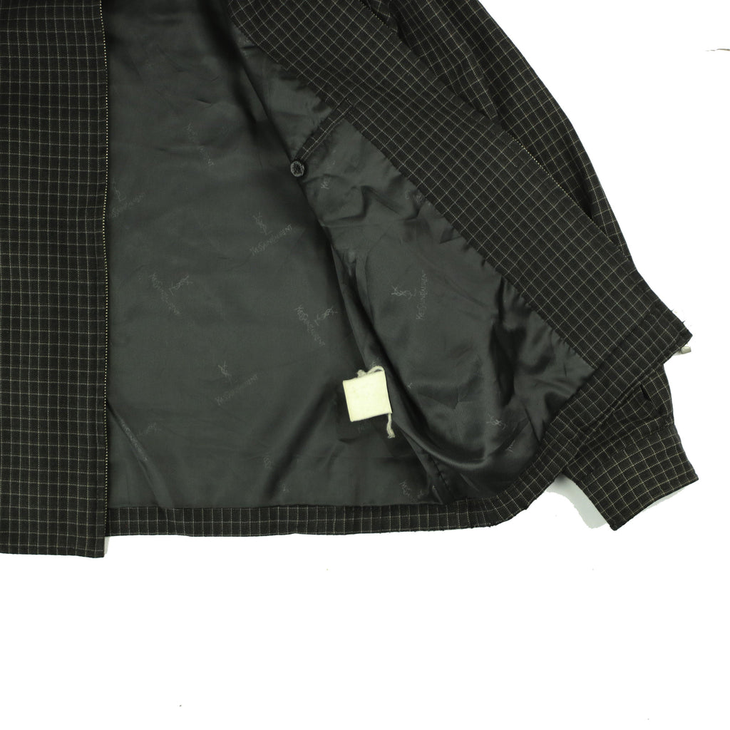 YVES SAINT LAURENT CHECK HARRINGTON - Thrifty Towel
