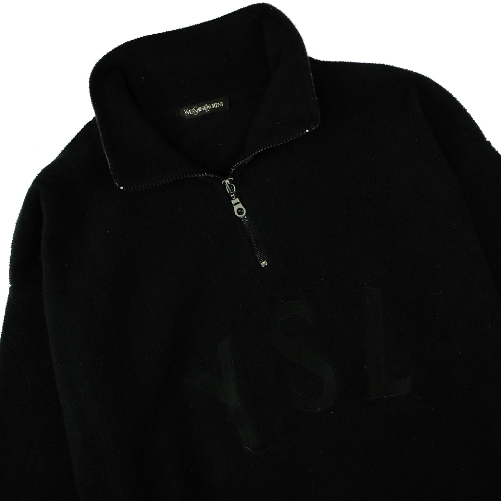 YVES SAINT LAURENT 1/4 ZIP SWEAT - Thrifty Towel