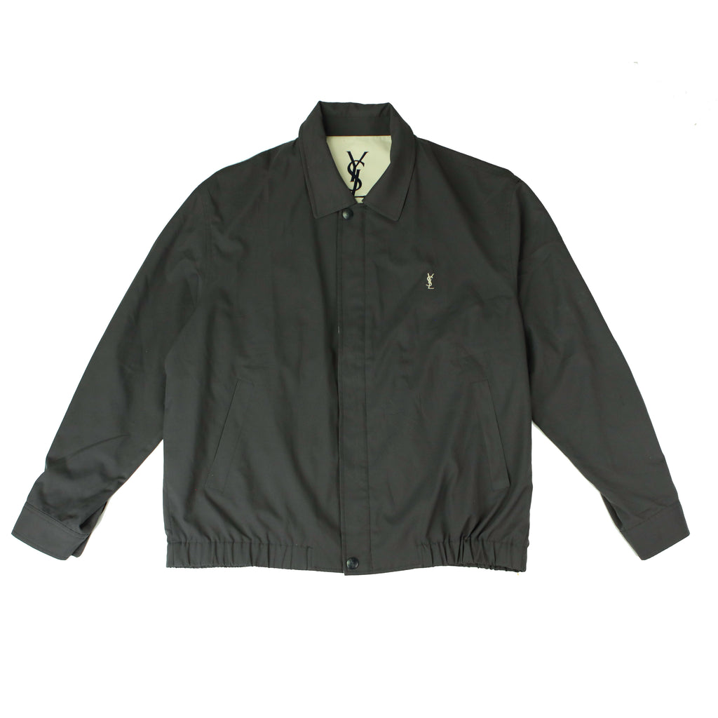 YVES SAINT LAURENT GREY HARRINGTON JACKET