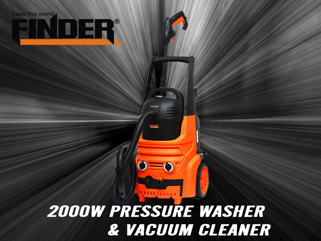 2IN1 Car Wash Machine Portable High Pressure Washer 2000W  & Vacuum Cleaner