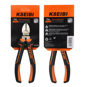KSEIBI 6'' Combination Diagonal Cutting Plier