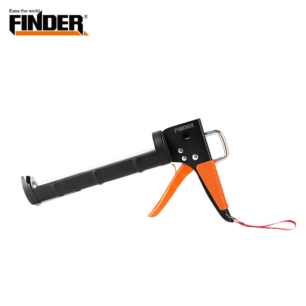 Heavy Duty half cylinder plus heavy pressure Caulking Gun with Surface matte spray treatment