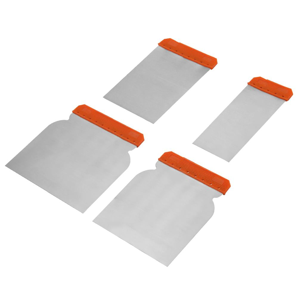 High Quality 4pcs Putty Knife Steel Body Hand Plastic Scraper Set For Puttying & Scraping