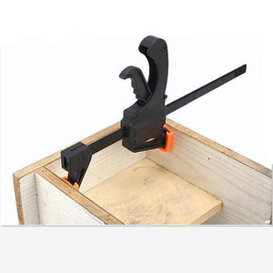 F Clamp Quick Ratchet Release Plastic Wood Clamp Clip Carpentry Woodworking Tools