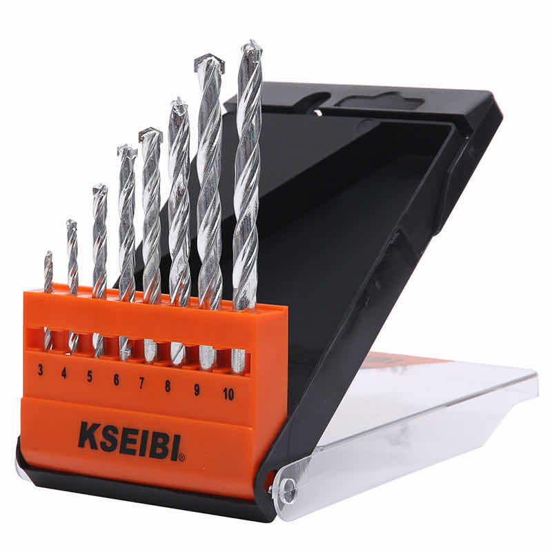 Masonry Drill Bits Set - Plastic Case 8-Pcs Set