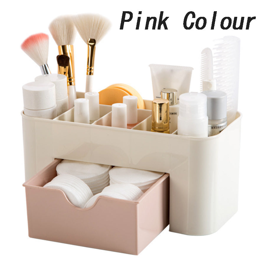 Plastic Cosmetic Storage Box & Drawer
