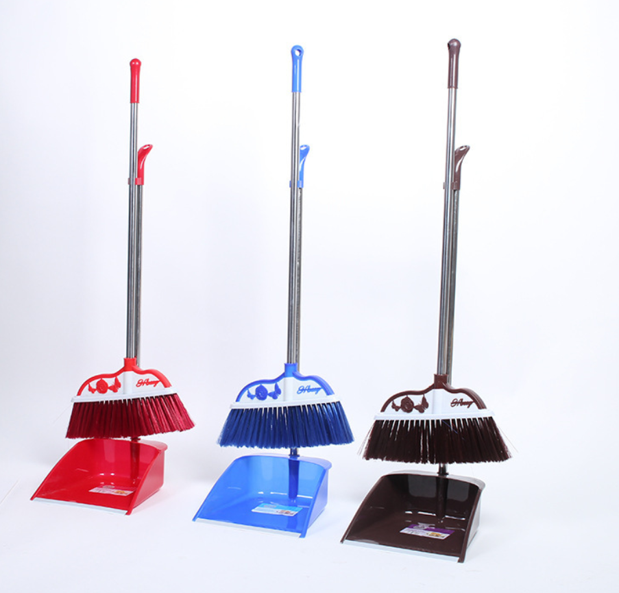 Plastic Dustpan with Broom Set