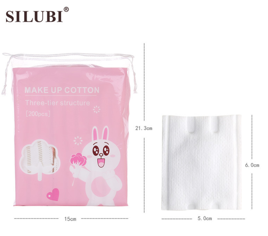200 Pcs Three-layered Structure Make-up Remover Cotton