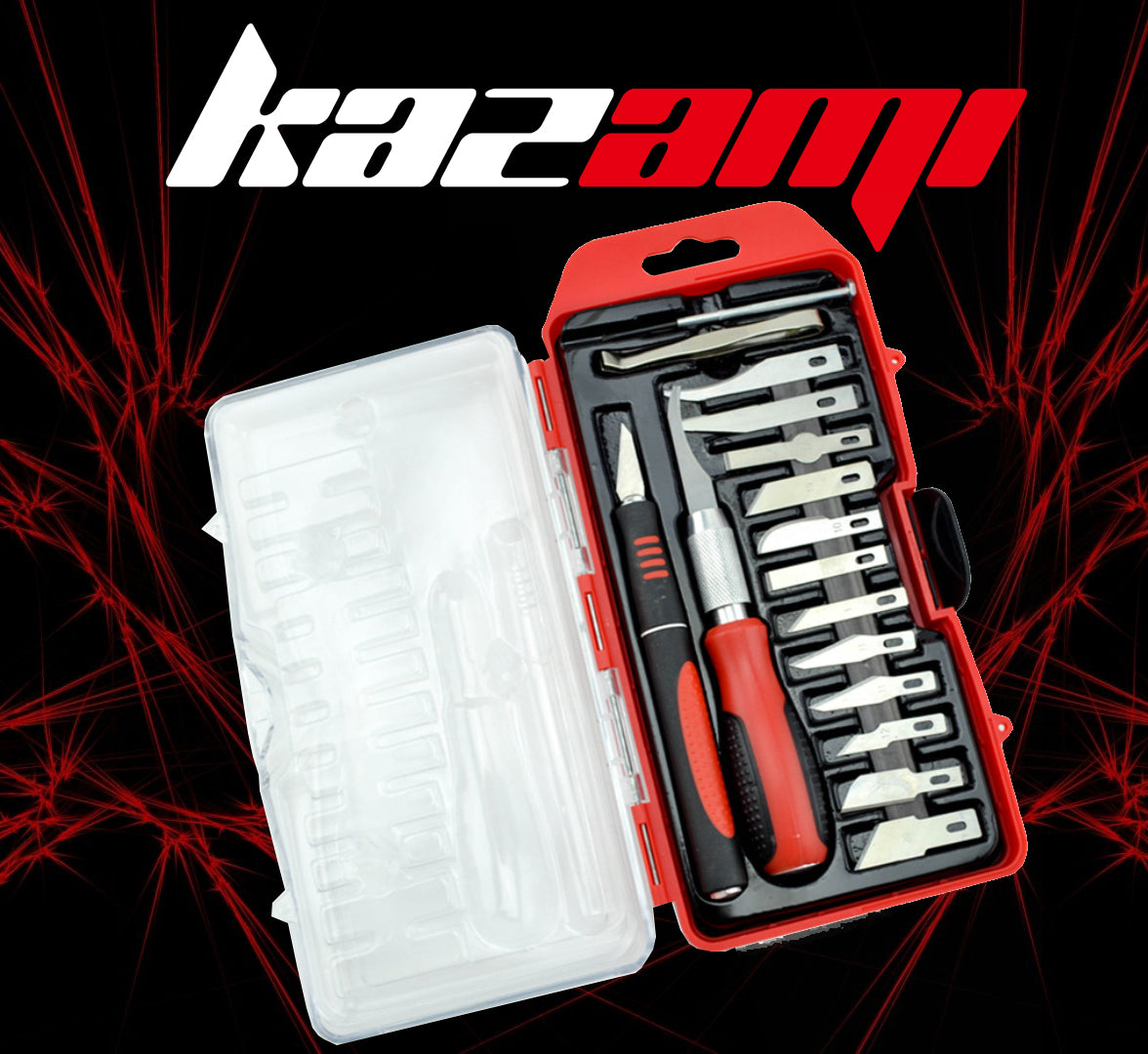 Kazami 16-pcs Craft Hobby Knife Set