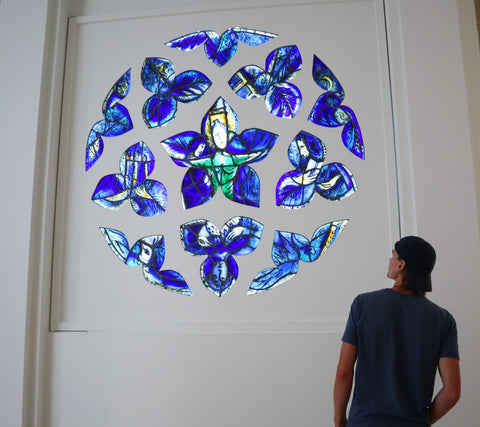 Marc Chagall Museum - mosaics and stained glass windows