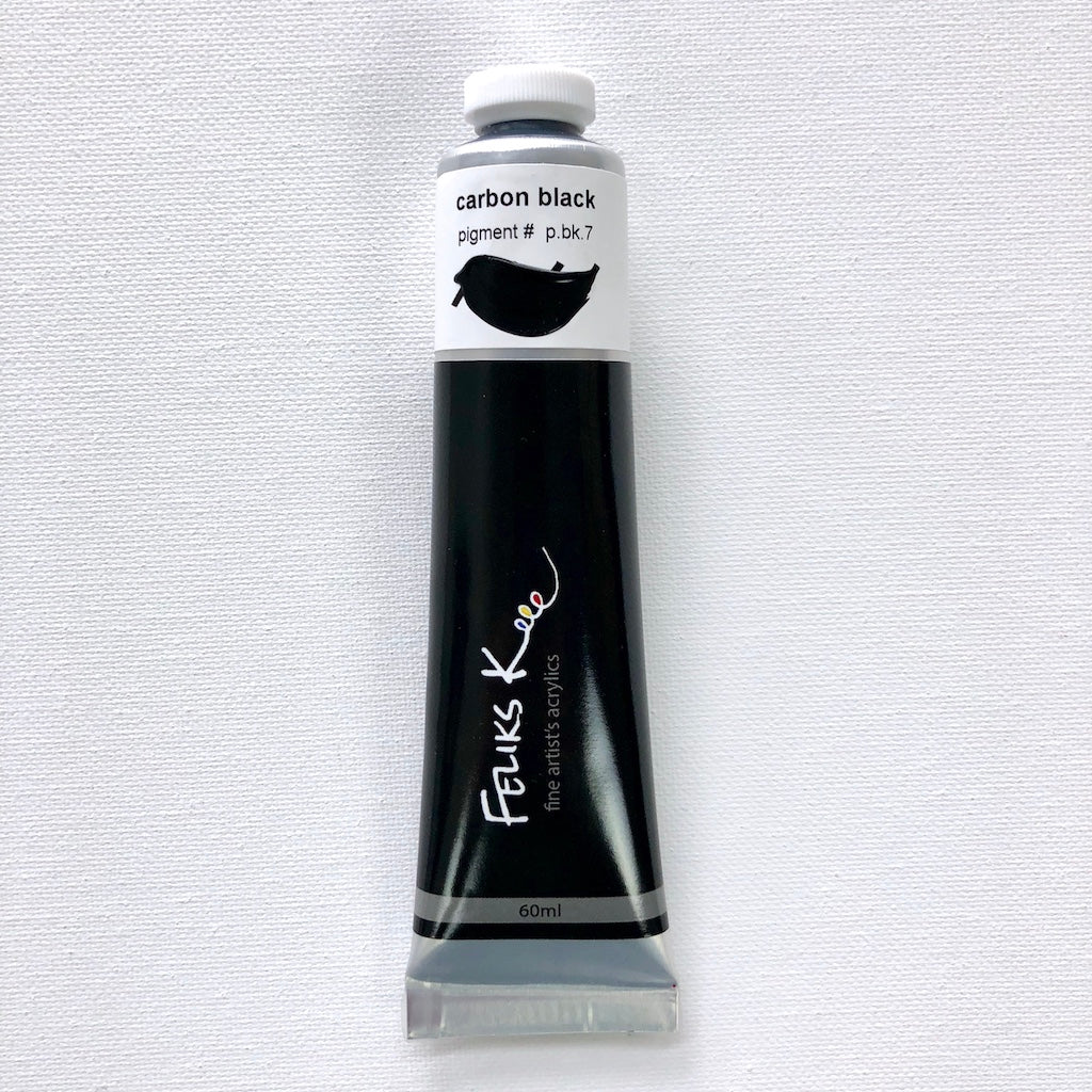 Feliks K. Fine Artist's Acrylic Paints (Carbon Black) - BACKORDER
