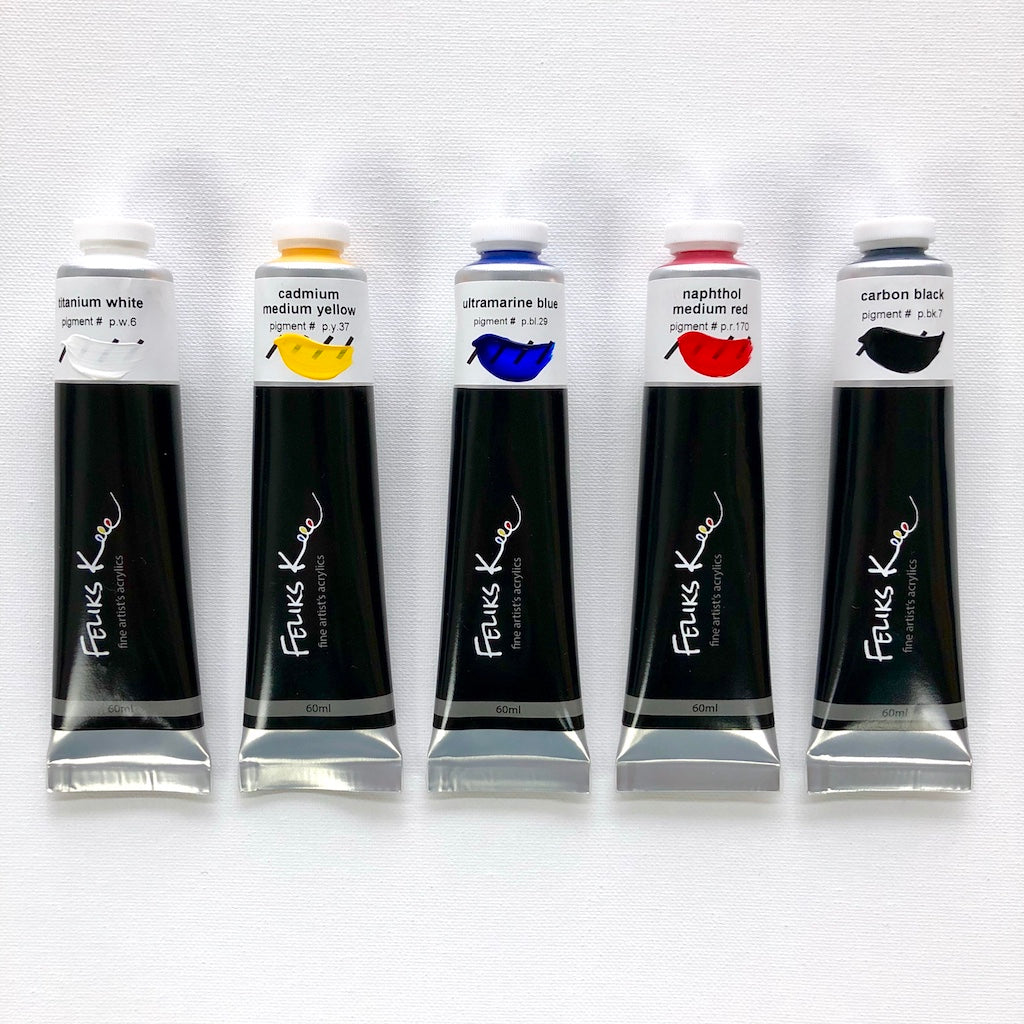 Feliks K. Fine Artist Acrylic Paints 5 Set