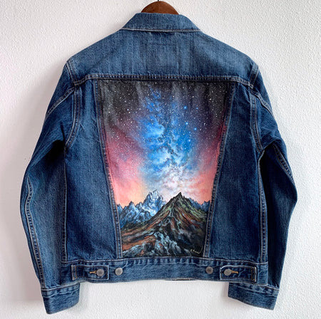 Original Levi's Painted Jean Jacket-Women's Size X Small
