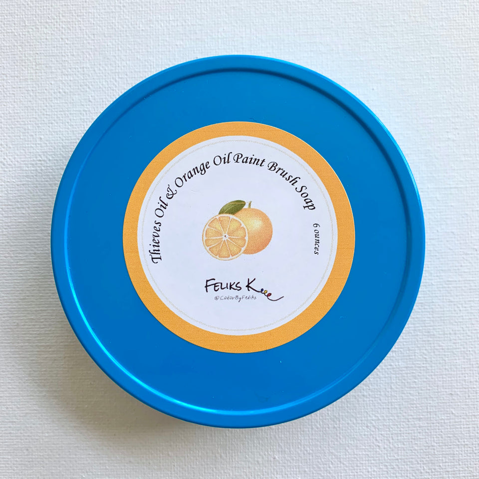 All Natural Feliks K. Handmade Brush Soaps (Orange Oil)