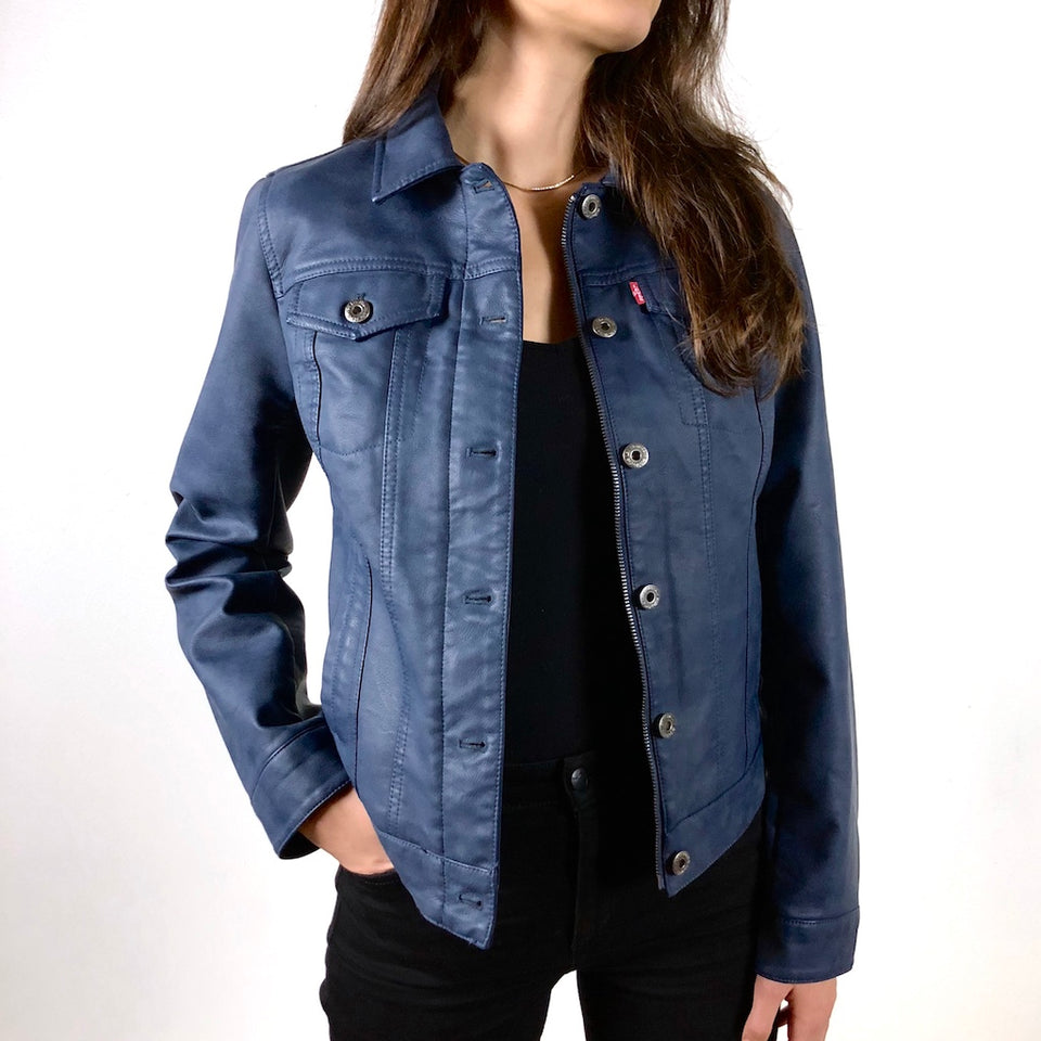 ColorByFeliks Original Levi's Vegan Leather Jacket-Women's Small
