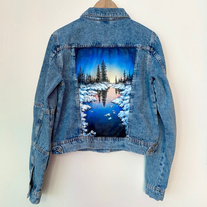 Original Free People Jean Jacket Painting - Women's Size M