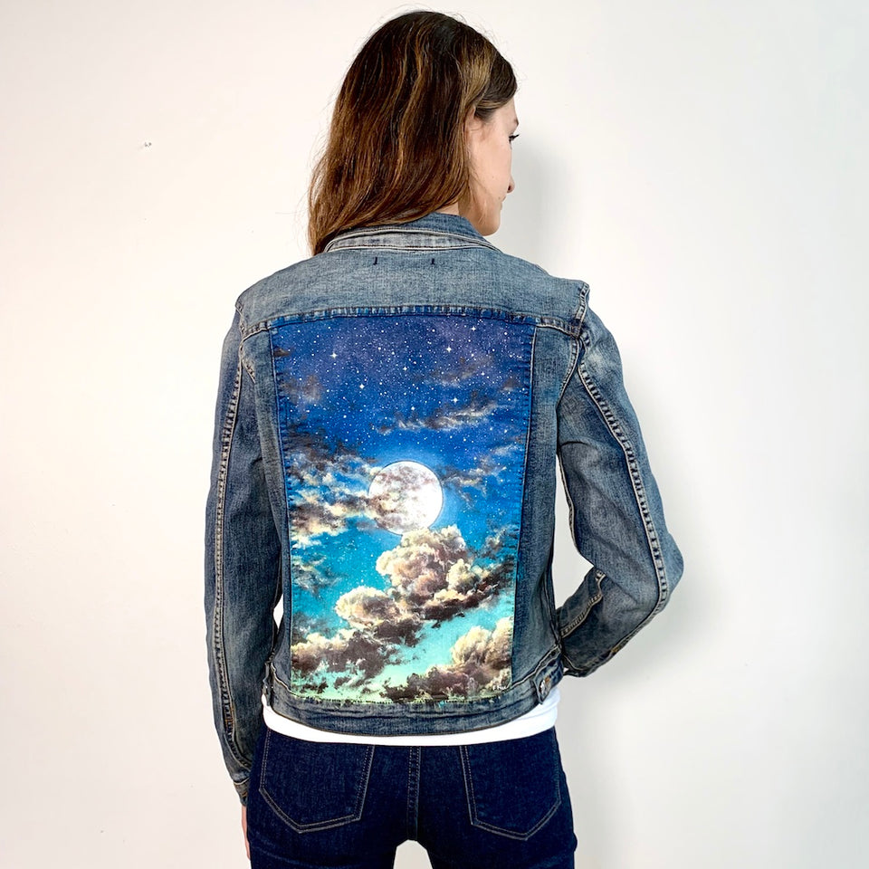 Original Vigoss Painted Jean Jacket-Women's Size Small