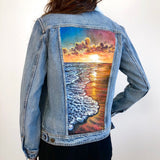 Original Articles of Society Painted Jean Jacket-Size Large