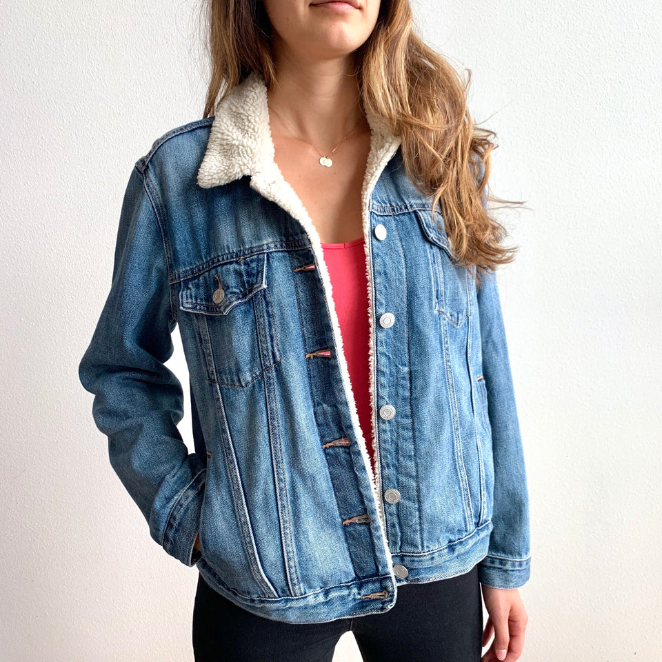 ColorByFeliks Original Jean Jacket Painting-Women's Size Large