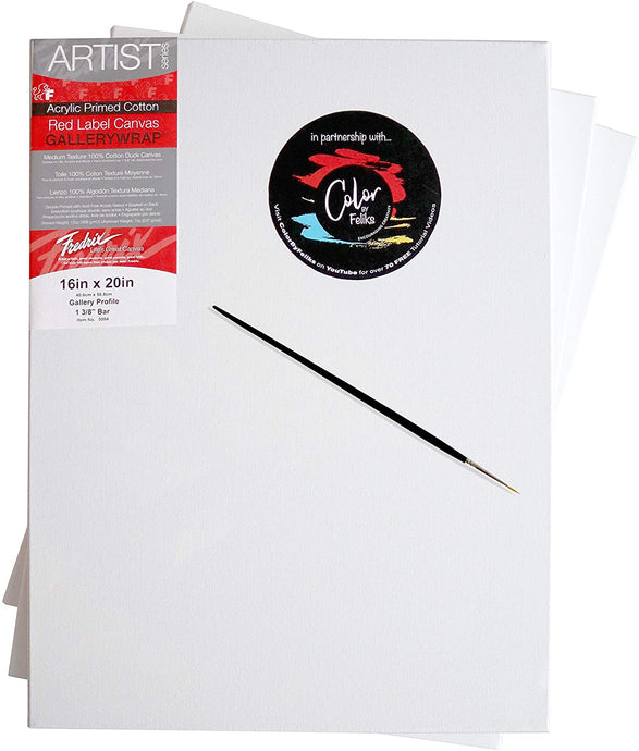 FREDRIX® Premium Stretched Painting Canvases 100% Cotton