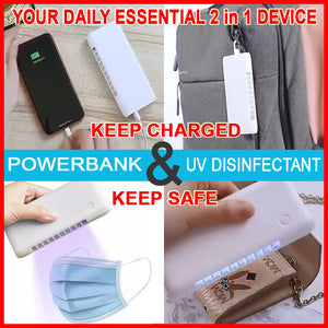 2 in 1 Powerbank 6000mah with UV Disinfectant Lamp