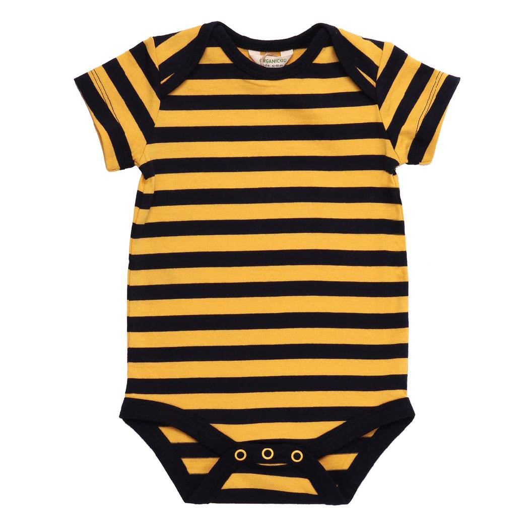 Bee Bodysuit Short Sleeve organic cotton - Bellelis Australia
