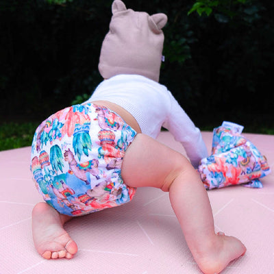 Bare Cub - Teddy Bare- Side Snapping Nappy