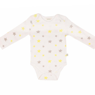 Stars Bodysuit Long Sleeve organic cotton - Bellelis Australia
