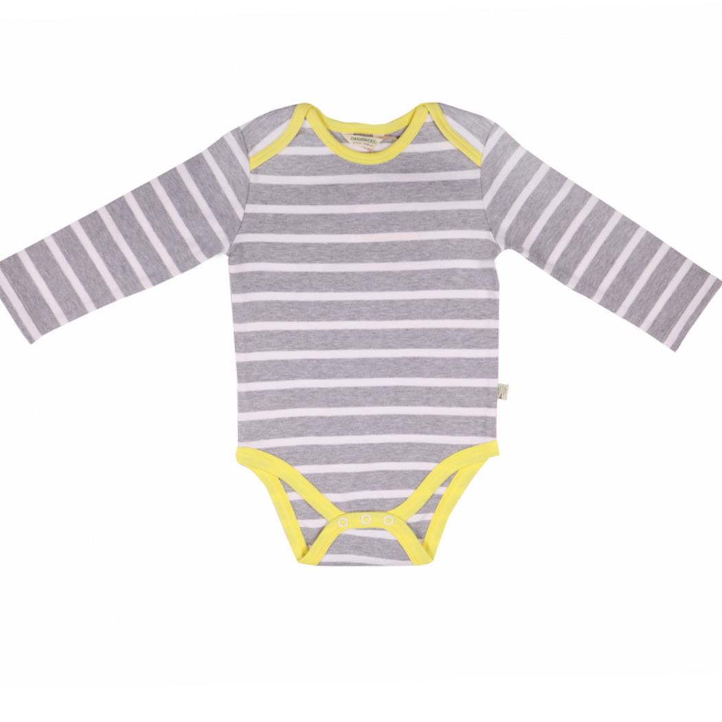 Stripes Bodysuit Long Sleeve organic cotton - Bellelis Australia
