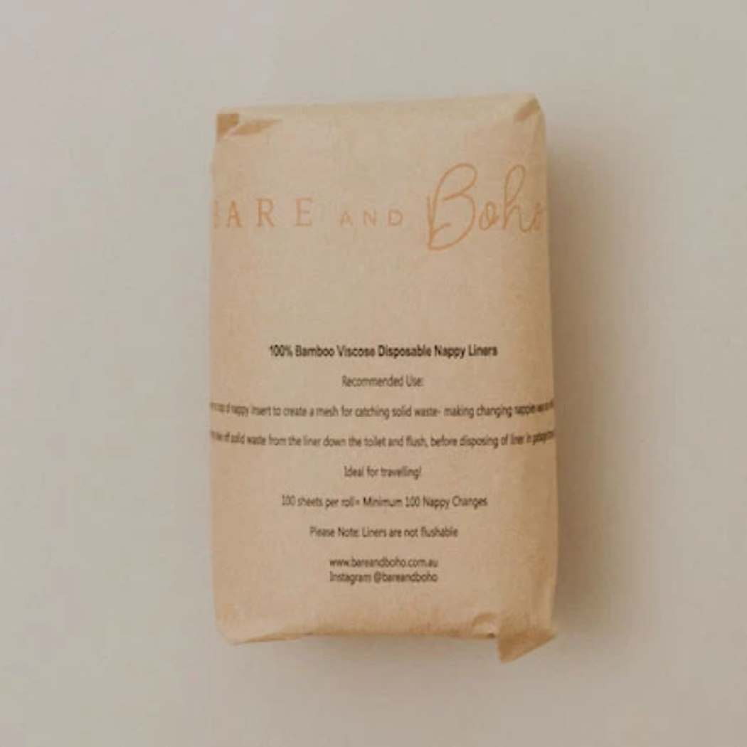 Disposable Bamboo Nappy Liners - Bare and Boho (100 pieces)