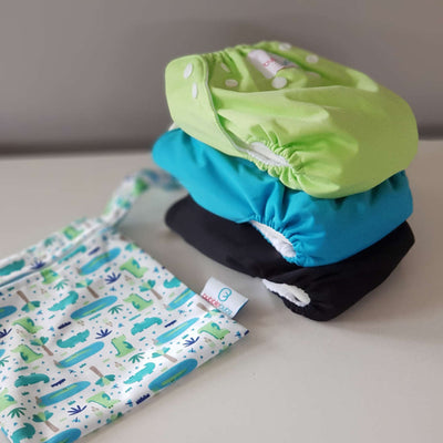 Small Nappy Bundle - 3 nappies + FREE mini wet bag