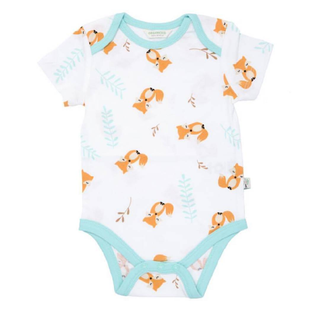 Fox Bodysuit Short Sleeve - organic cotton - Bellelis Australia