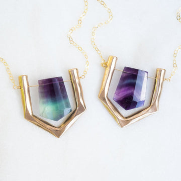 ARIEL Purple Fluorite Necklace
