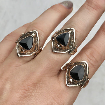 AVA Black Tourmaline Ring
